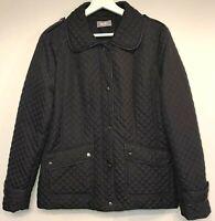 Wallis Womens Jacket Size 16 Quilted Effect Lightweight Black