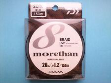 DAIWA Morethan 8 BRAID PE UVF+Si (Silicone Coating) 150m #1.2 20lb