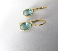 Blautopaz Ohrringe, 925 Silber vergoldet