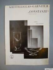 Original VLG.Vereinigte Lausitzer Glaswerke Katalog Preisliste Constanze 1934/35