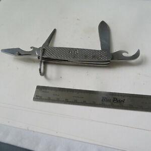 """POCKET KNIFE VINTAGE CAMILLUS  3¾""""  4 BLADE U.S. MILITARY CAMP KNIFE 1966 PARTS"""