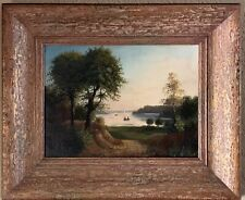 BEAUTIFUL ANTIQUE  FRAMED OIL ON CANVAS