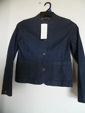 Eileen Fisher Mandarin Collar Jean Snap On Button Jacket NWT  size Small