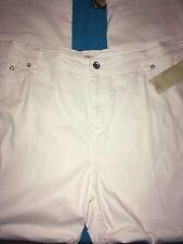 Woman's 'Reba' Brand Size Plus 24W  White Jeans with Stretch  NWT