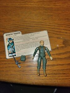 1982 G I Joe Straight Arm  Grunt V1 Complete Unbroken REDBACK Filecard