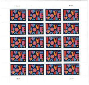 US SCOTT 5543 PANE OF 20 LOVE FOREVER STAMPS MNH