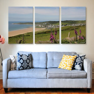 Woolacombe Daytime Tryptich Canvas