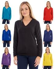 Ladies Soft BHS Long Sleeve Sweater V Neck Top Jumper