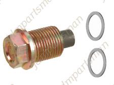 VOLVO Magnetic (1) Oil Drain Plug + (2) Gasket /Seal Rings  (3PCS) # 986833