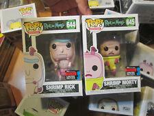FUNKO POP RICK AND MORTY NYCC 2019 SHRIMP RICK & MORTY 644 + 645 LOT FALL