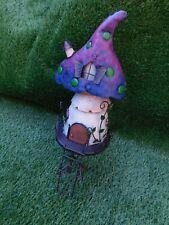 Fairy Tree House Colourful Metal Garden Home Outdoor Ornament #5308 42cm High