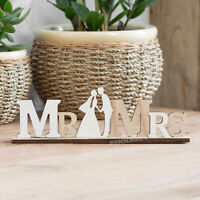 Mr and Mrs Wedding Reception Table Decoration Wooden Word Block Sign Ornament
