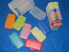 LOT BOITE médicale à MEDICAMENT de SEMAINE couleurs et JOURS box PILULIERS