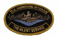 USN NAVY SUBMARINE VETERAN THE SILENT SERVICE PATCH SILVER DOLPHIN