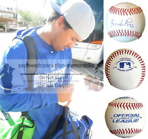Brandon League Blue Jays Signed Baseball Mariners Dodgers Proof Photo Autograph