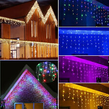 5-25 Meter Christmas Snowing Icicle Indoor Outdoor LED Fairy Lights Garden Decor