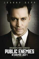 Public Enemies movie poster print: (c) Johnny Depp poster : 11 x 17 inches :