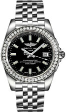 Breitling Galactic 36 A7433053/BE08-376A Black Dial Steel Diamond Women's Watch