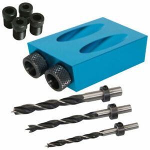 15° Angle Screw Set Pocket Hole Jig Kit Drill Bit Woodworking 6/8/10mm Tool New