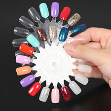 10x  Nail Art Tips Make Up Practice Round Wheel Polish Acrylic Display Natural