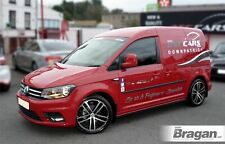To Fit 2015+ Volkswagen VW Caddy Maxi Black Steel Side Bars Steps Tubes Skirts