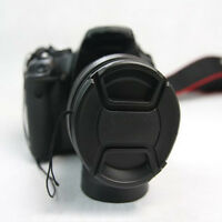 49mm Front Lens Cap Hood Cover Snap-on For Canon Nikon Pentax Sony Camera