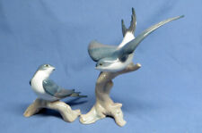 Rare Htf Lladro Spain Birds Figurine Two Hearts United Together Swallows 6967 Ec