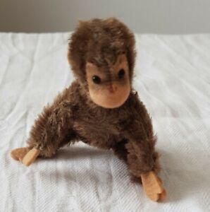 Stofftier Affe mini 11 cm alt antik gebraucht