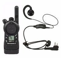Motorola CLS1410 UHF Business Two-way Radio with HKLN4604 Headset.
