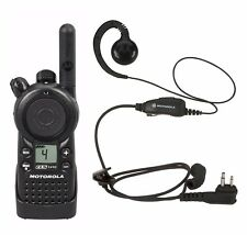 Motorola Cls1410 Uhf Business Two-way Radio with Rln6423 Earpiece Headset