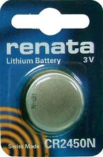CR2450N RENATA WATCH BATTERIES 2450 (1 piece) New packaging Authorized Seller