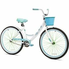 Womens Cruiser Bike Single Speed Bicycle Lightweight Beach City Urban Basket Rim
