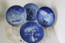 B&G Bing & Grondahl Christmas Plate Lot Of 4-1970 1971 1972 1973 Made In Denmark