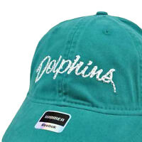 NFL Reebok Miami Dolphins Teal Relaxed Fit Womens Ladies Rhinestone Gem Cap Hat