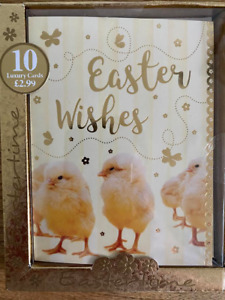 Easter Chick Luxury Greeting Cards - Pack of 10