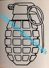 Hand Grenade Decals (3) Pineapple Navy Seals Army Marines Car Truck American A