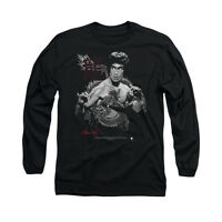 BRUCE LEE THE DRAGON Licensed Adult Men's Long Sleeve Graphic Tee Shirt SM-3XL