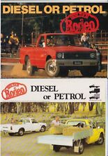 1981 HOLDEN KB RODEO UTE Brochure Like ISUZU FASTER
