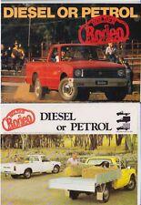 1981 HOLDEN KB RODEO UTE Brochure Like ISUZU FASTER