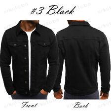 US Men's Casual Slim Fit Classic Retro Thicken Coat Jean Denim Jacket Outerwear