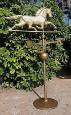 Bronze Finish Horse Theme Vintage Weather Vane With Cast Iron Base