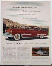 1953 DeSoto Firedome V8 Powermaster Six Magazine Ad Original