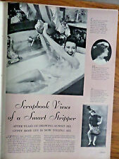 1957 Photo Article Ad Scrapbook Views of a Smart Stripper Gypsy Rose Lee