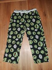 OSCAR THE GROUCH SESAME STREET PAJAMA BOTTOMS Size Medium  a7