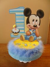 Baby Mickey Mouse Cake Topper 1st First One Birthday Centerpiece