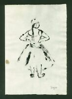 EDGAR DEGAS - monotype signed on original paper of 800's -