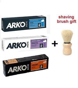 ARKO BARBER'S SHAVING CREAMS 100g / MEN/FACE/SHAVING SOAPS/ 4 TYPES/ BRUSH GIFT