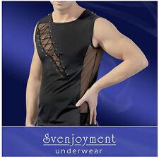 MAGLIA UOMO SEXY TG XL T-shirt nera aderente Svenjoyment Biancheria Intima