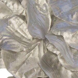 Metallic Silver Rose Petals Fabric Confetti (164 Petals)