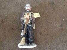 "2 Emmett Kelly Jr Statues Flambro Excellent Condition. Each one is 10"" Tall"